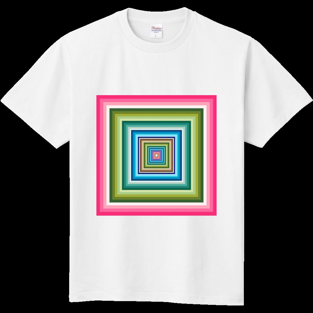 四角の視覚。 定番Tシャツ
