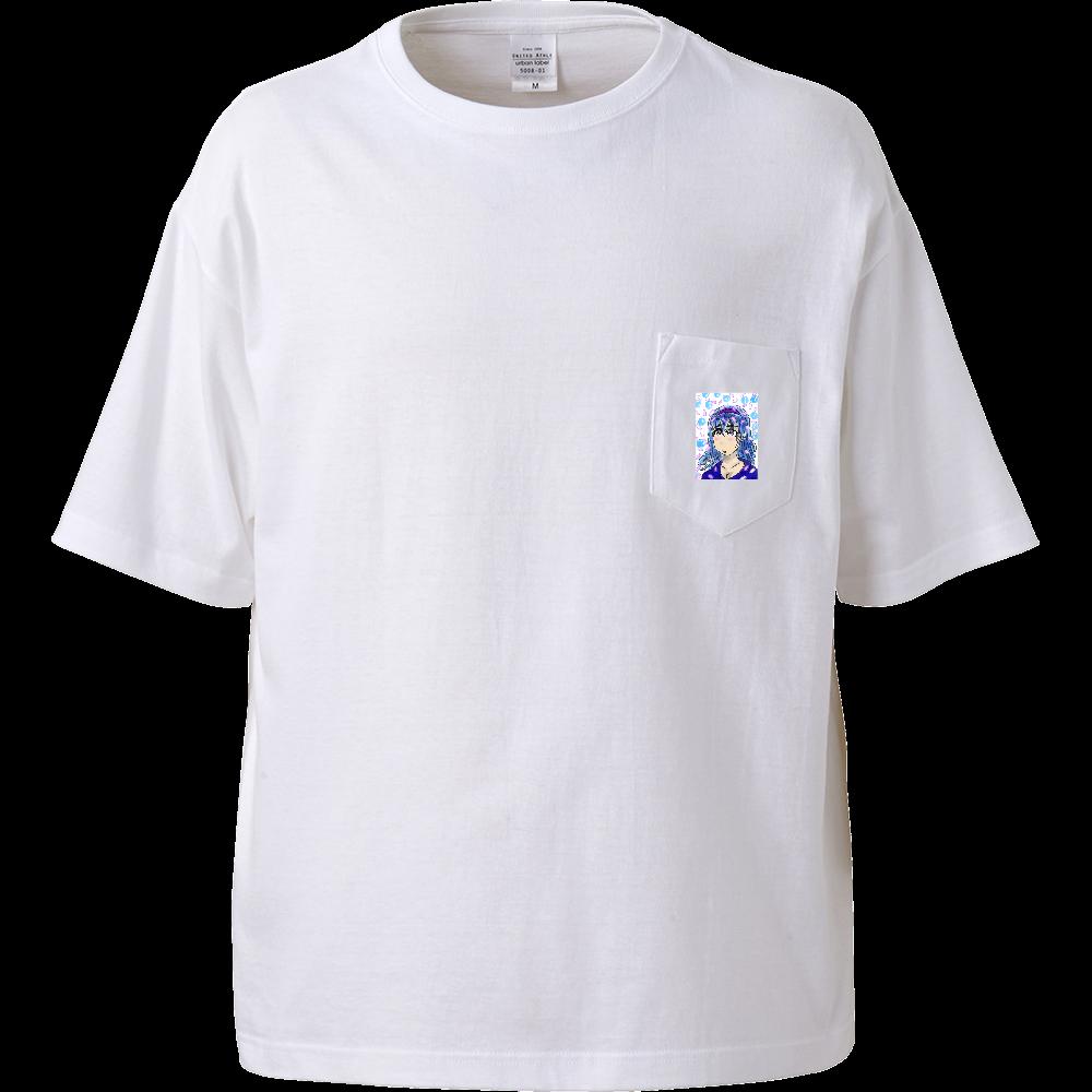 淡い少女 OLIRAB MARKET.Version.2 ビッグシルエットTシャツ(ポケット付)