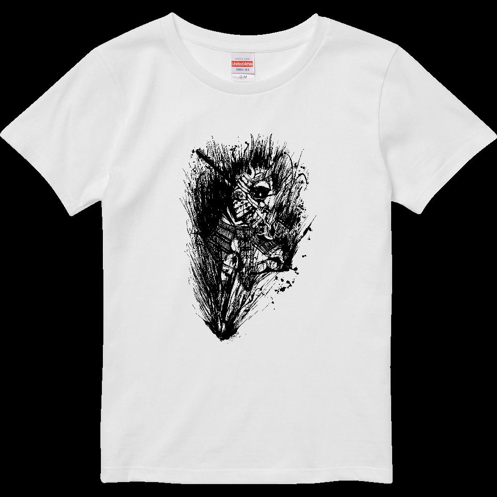 鬼武者の墨絵 ハイクオリティーTシャツ(ガールズ)