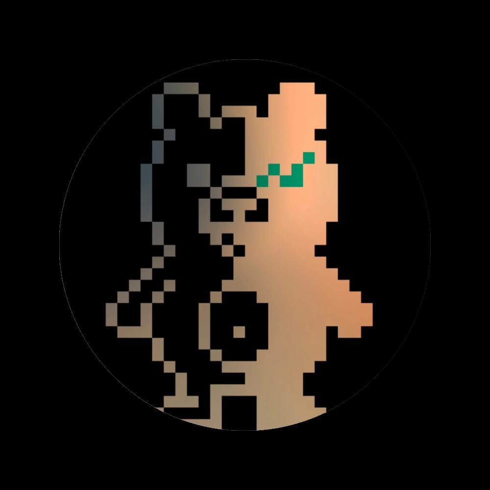ドットクマ(´(ェ)`) 56㎜缶バッジ