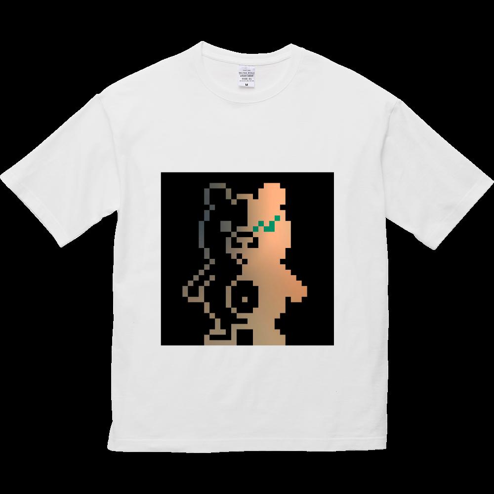 ドットクマ(´(ェ)`) 5.6オンス ビッグシルエット Tシャツ