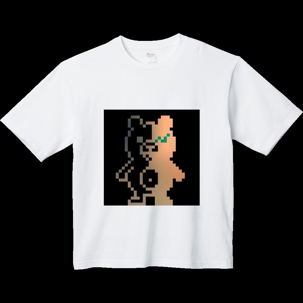 ドットクマ(´(ェ)`) ヘビーウェイト ビッグシルエットTシャツ