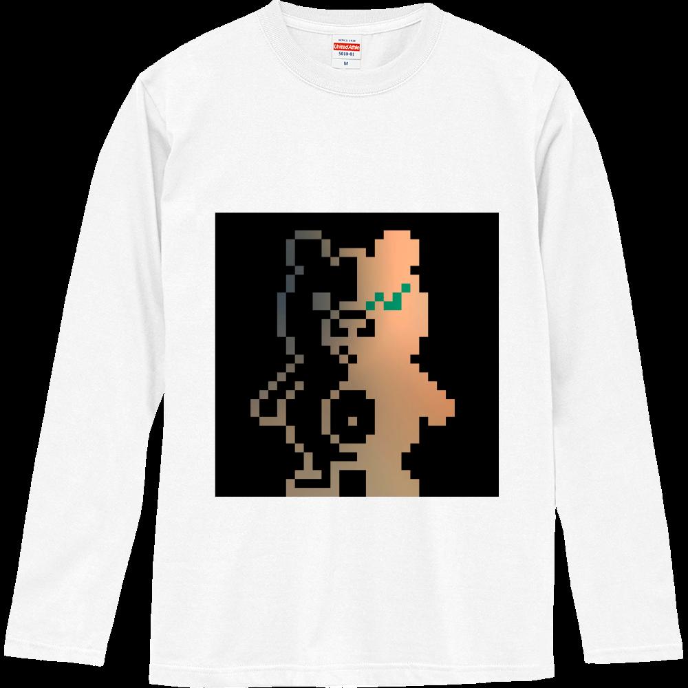 ドットクマ(´(ェ)`) ロングスリーブTシャツ