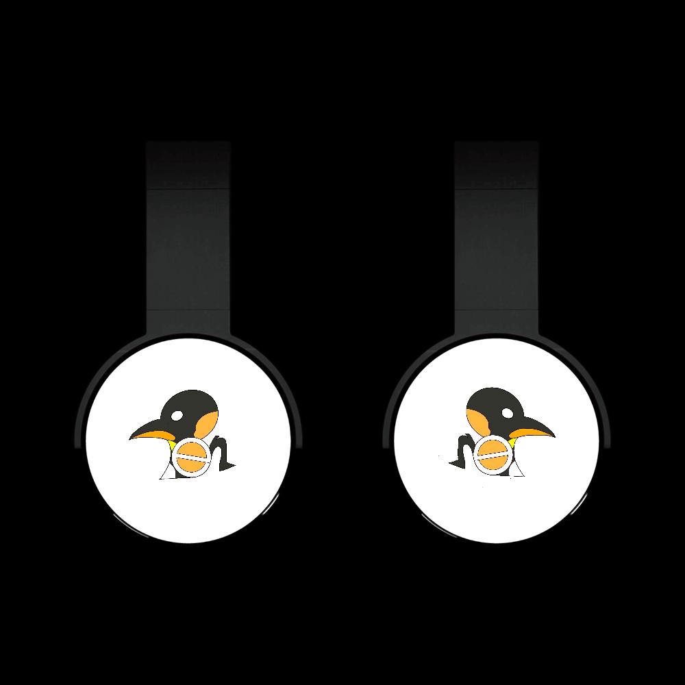 ペンギンイメージ オリジナルステッカー風デザイン Bluetooth ヘッドホン Bluetoothヘッドフォン