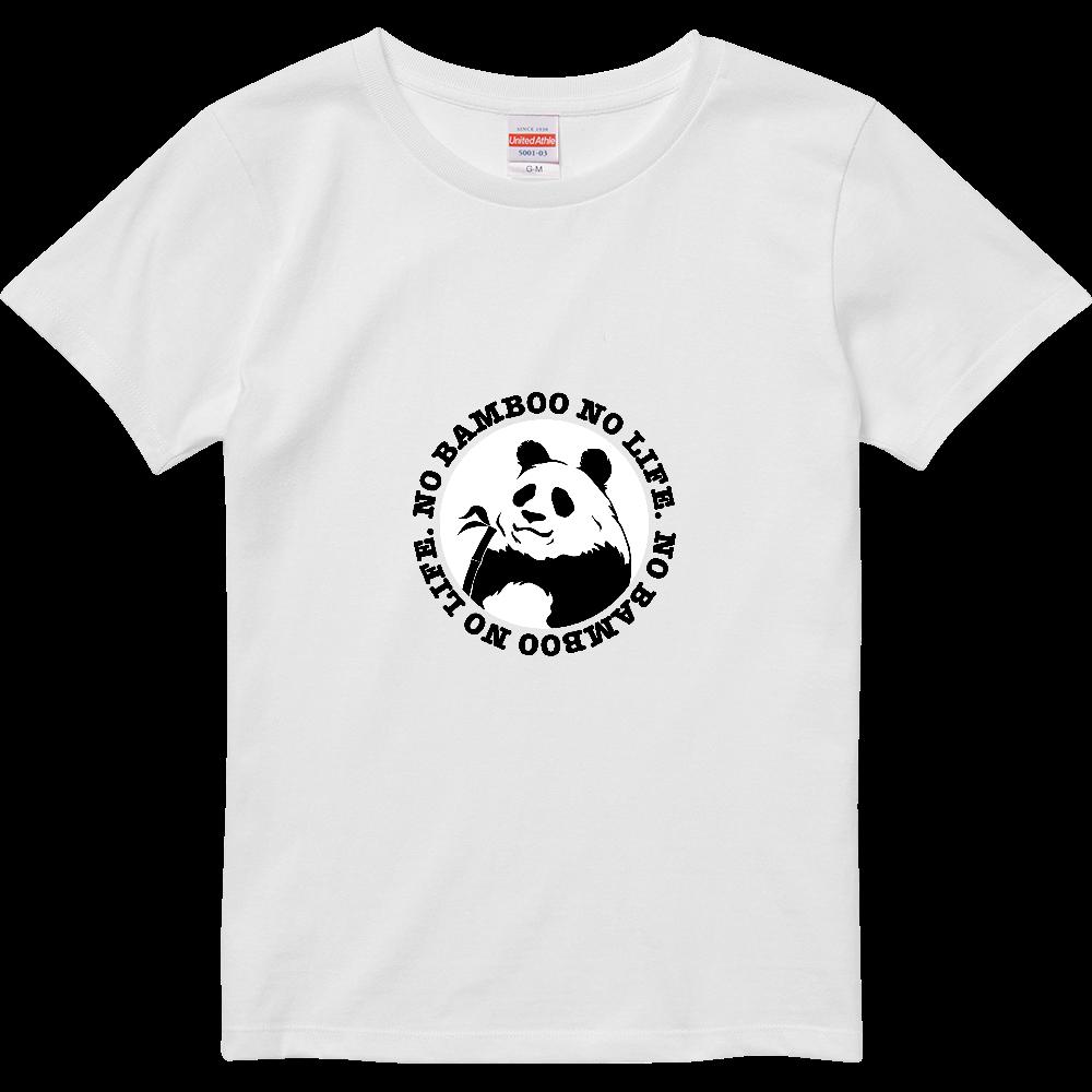 パンダ2 白黒パターン ハイクオリティーTシャツ(ガールズ)