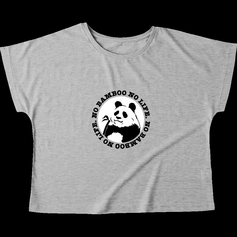 パンダ2 白黒パターン ウィメンズ ドルマン Tシャツ