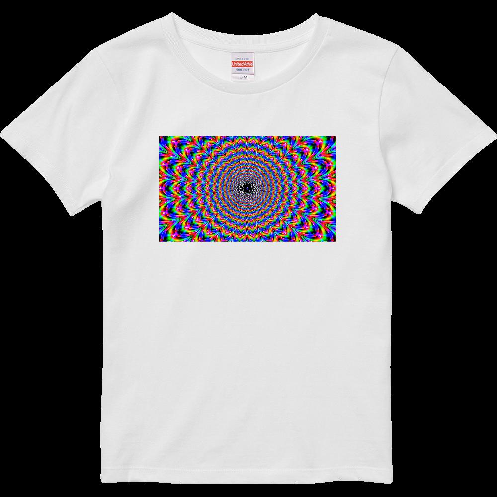 幾何学アート1 ハイクオリティーTシャツ(ガールズ)
