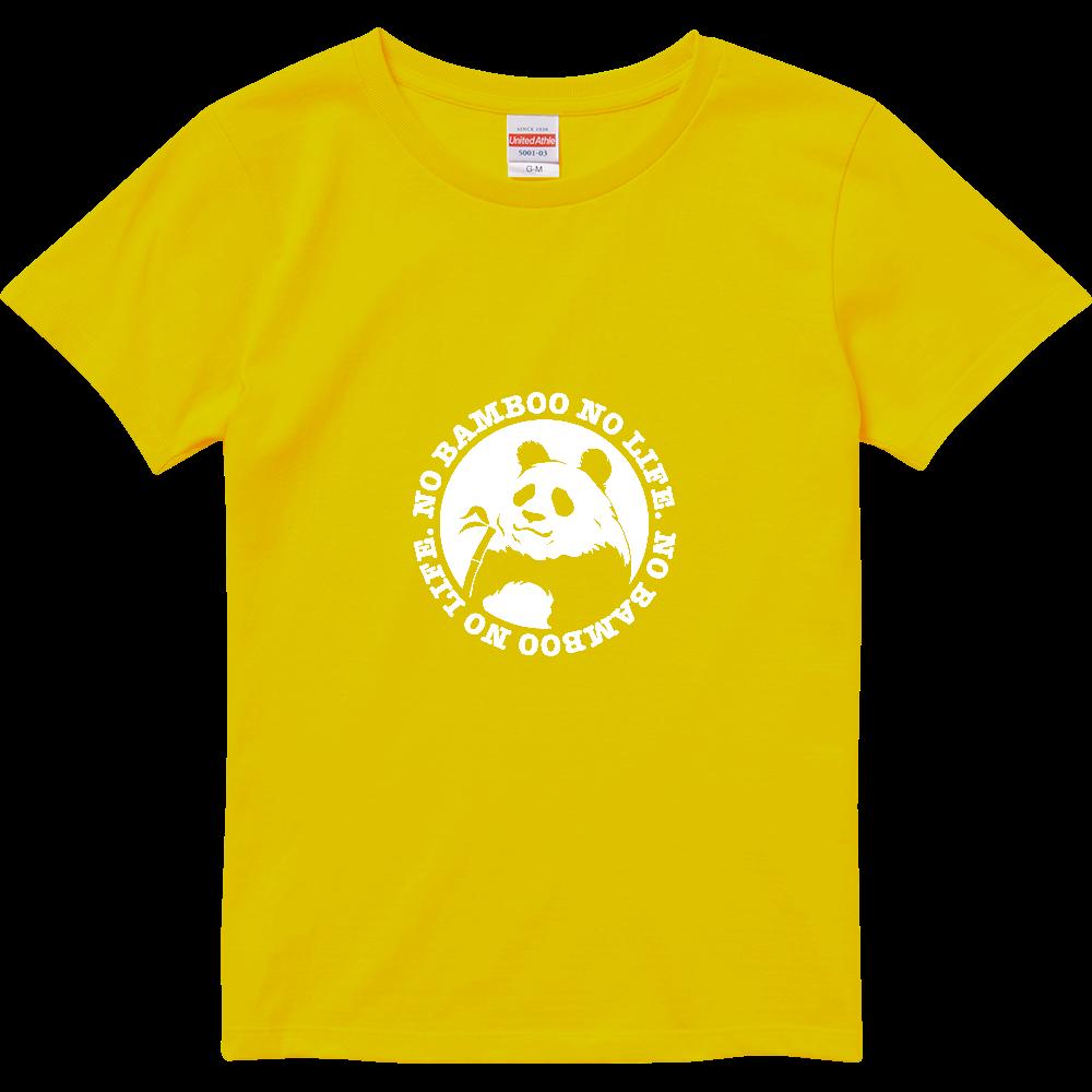 パンダ3 カラー下地透けパターン ハイクオリティーTシャツ(ガールズ)