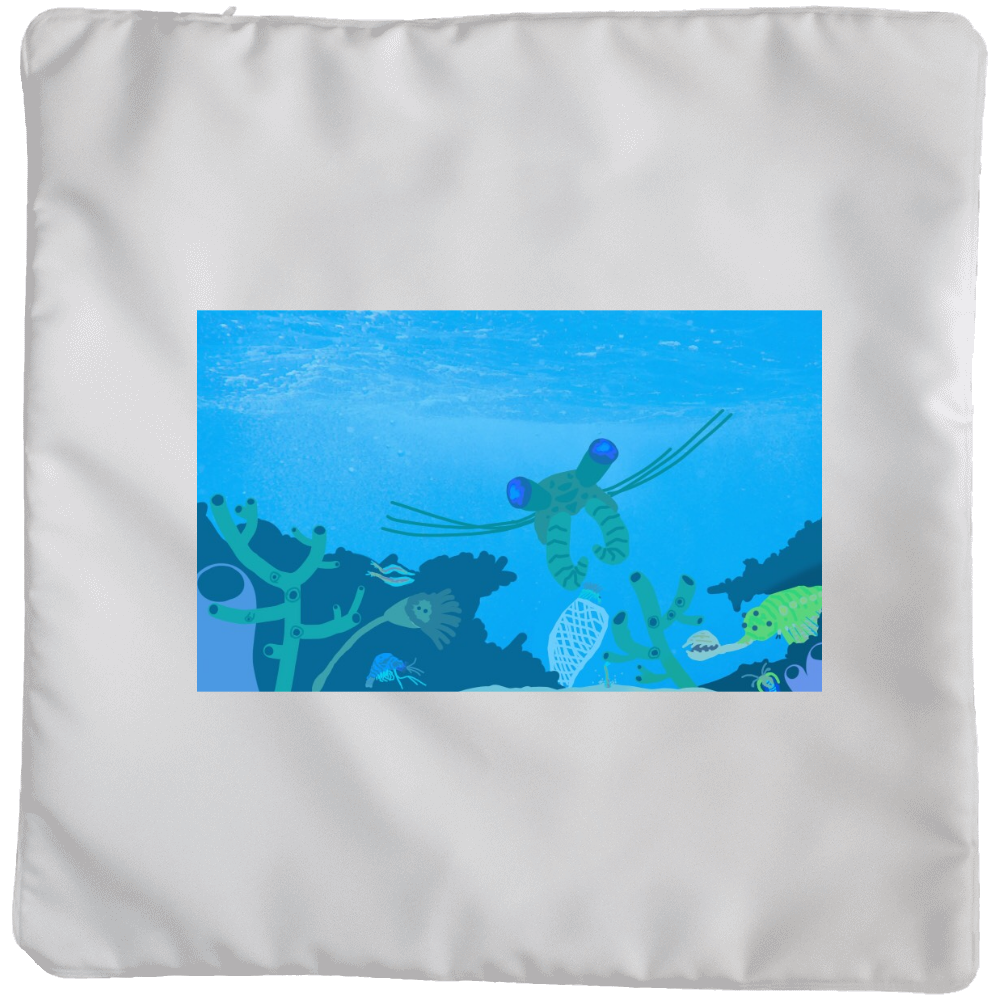 カンブリア紀の海 クッションカバー(大)カバーのみ