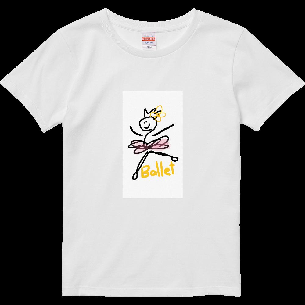 なんとなくバレエTシャツ ハイクオリティーTシャツ(ガールズ)