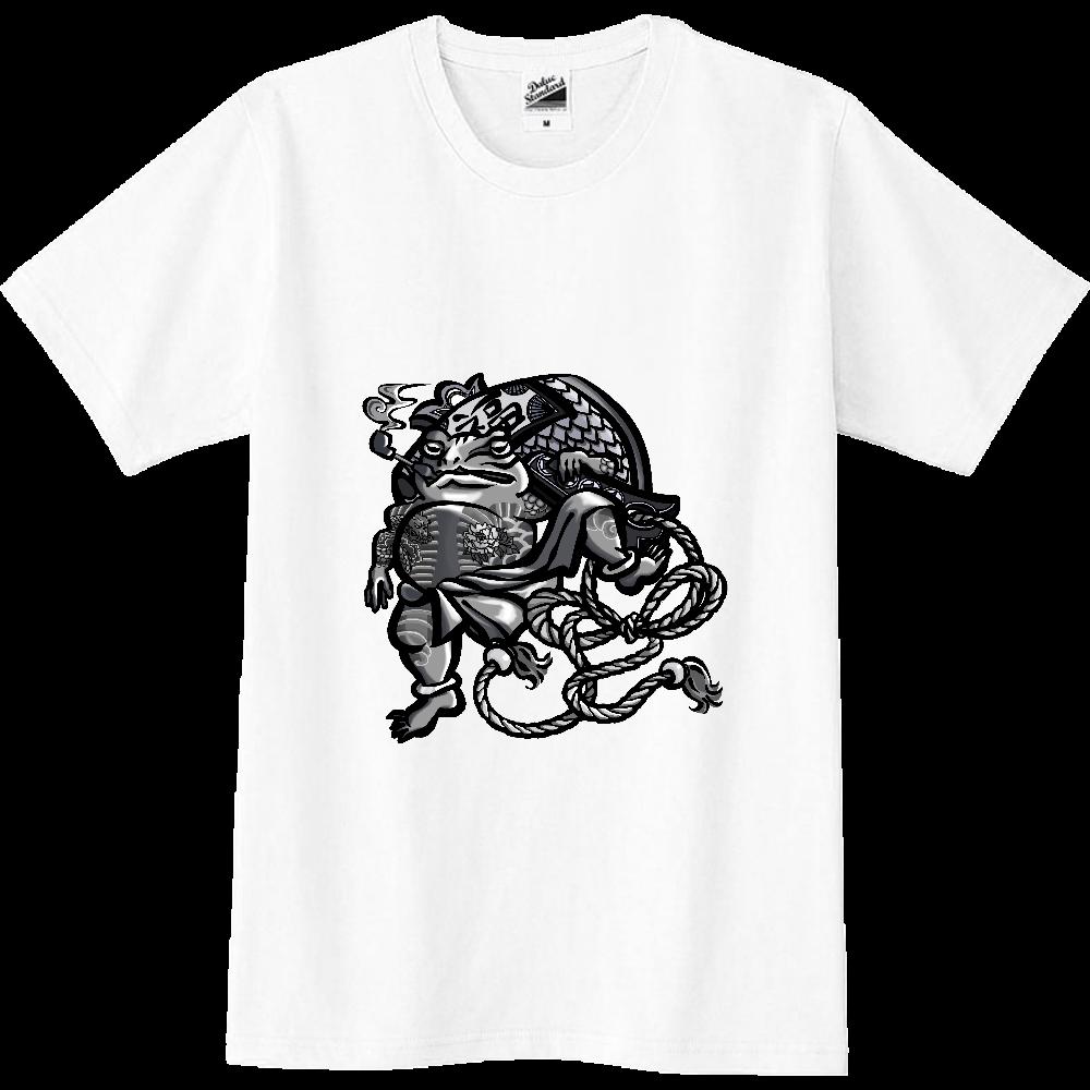 福を呼ぶ蛙と打ち出の小づち スリムTシャツ