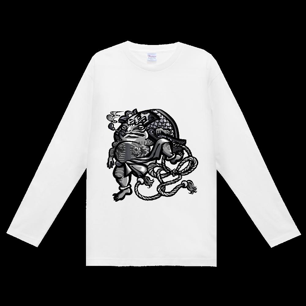 福を呼ぶ蛙と打ち出の小づち ヘビーウェイト長袖Tシャツ