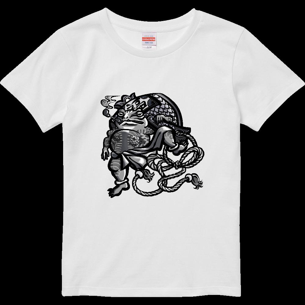 福を呼ぶ蛙と打ち出の小づち ハイクオリティーTシャツ(ガールズ)