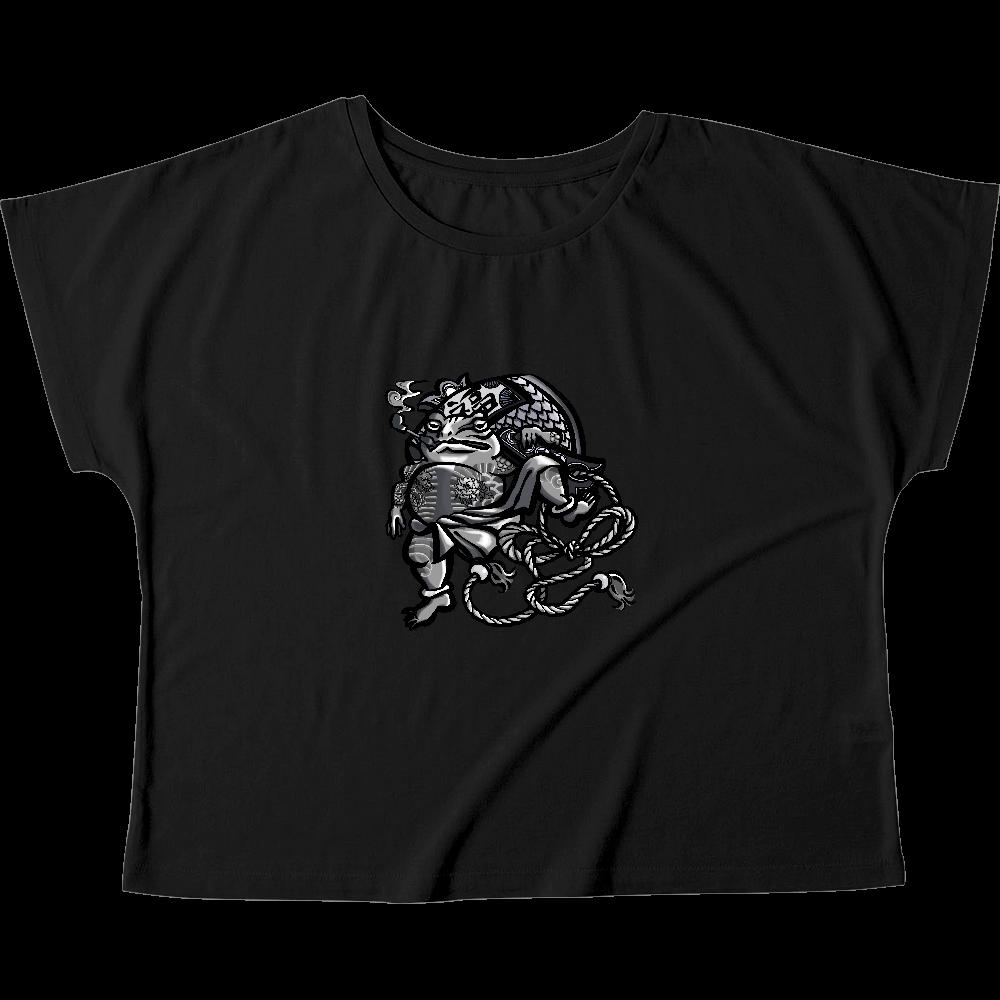 福を呼ぶ蛙と打ち出の小づち ウィメンズ ドルマン Tシャツ