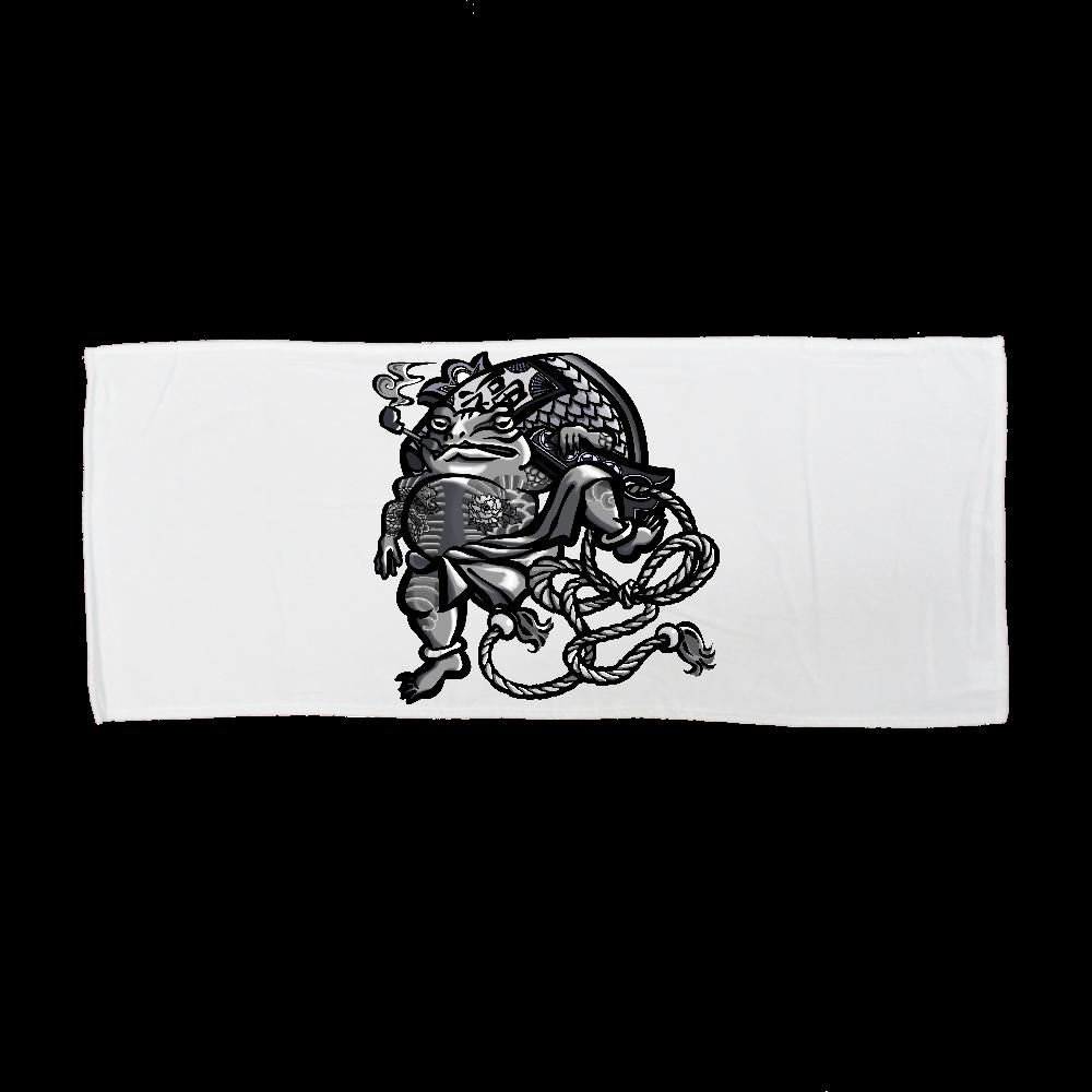 福を呼ぶ蛙と打ち出の小づち 全面インクジェットフェイスタオル