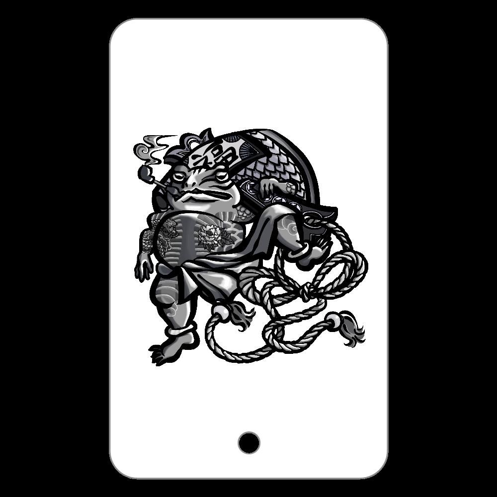 福を呼ぶ蛙と打ち出の小づち フラットパスケース
