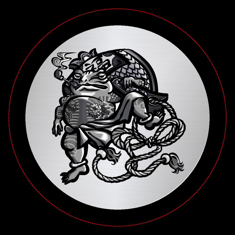 福を呼ぶ蛙と打ち出の小づち オリジナル缶バッジ(44mm)