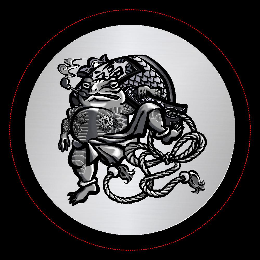 福を呼ぶ蛙と打ち出の小づち オリジナル缶バッジ(56mm)