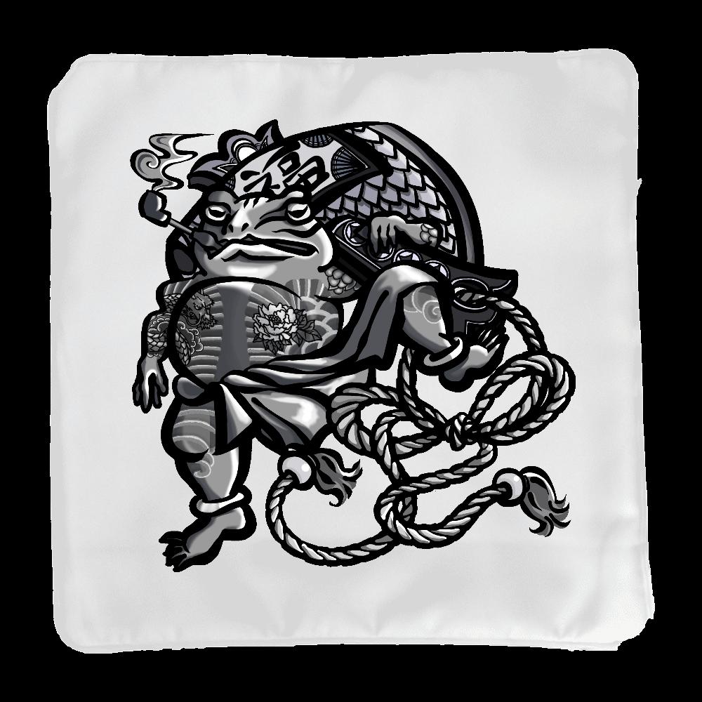 福を呼ぶ蛙と打ち出の小づち クッション(小)