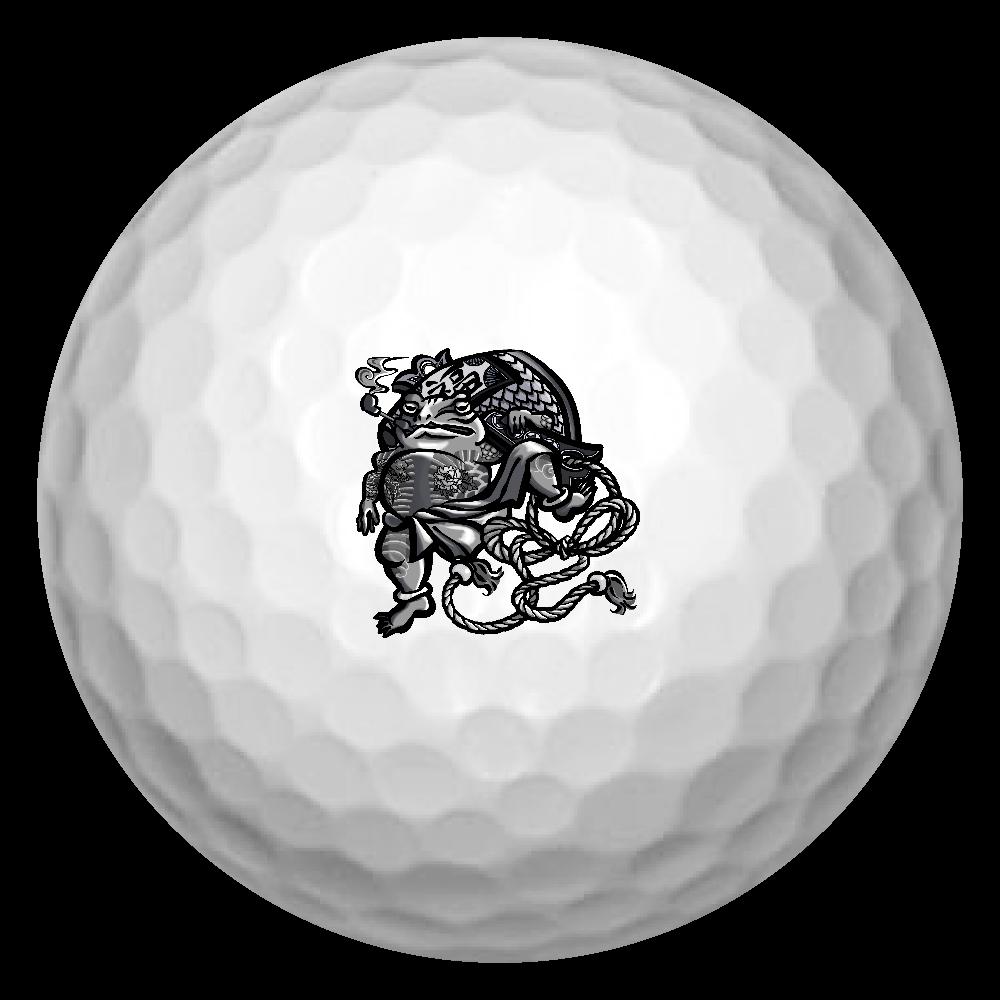 福を呼ぶ蛙と打ち出の小づち ゴルフボール(3個セット)