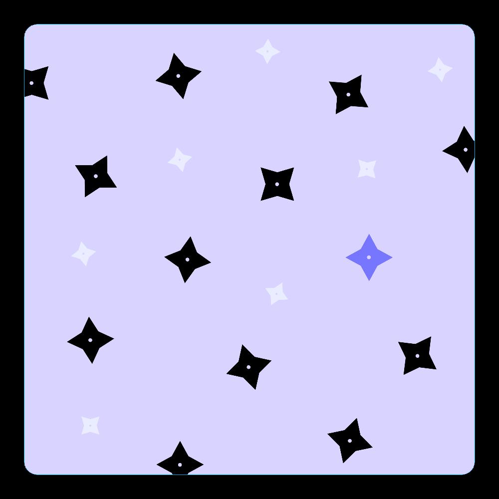 手裏剣・黒青 アクリルコースター(四角) アクリルコースター(四角)