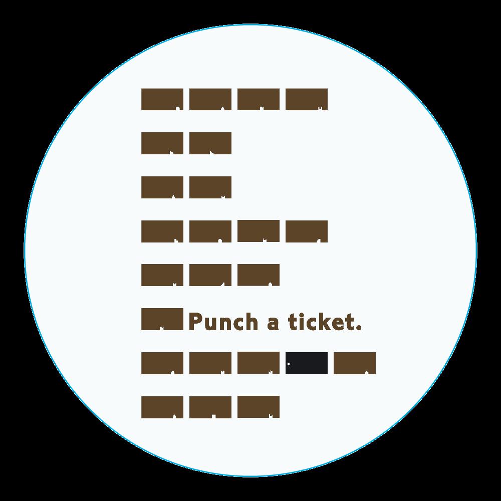 切符 アクリルコースター(丸) アクリルコースター(丸)