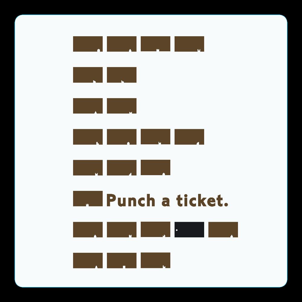 切符 アクリルコースター(四角) アクリルコースター(四角)