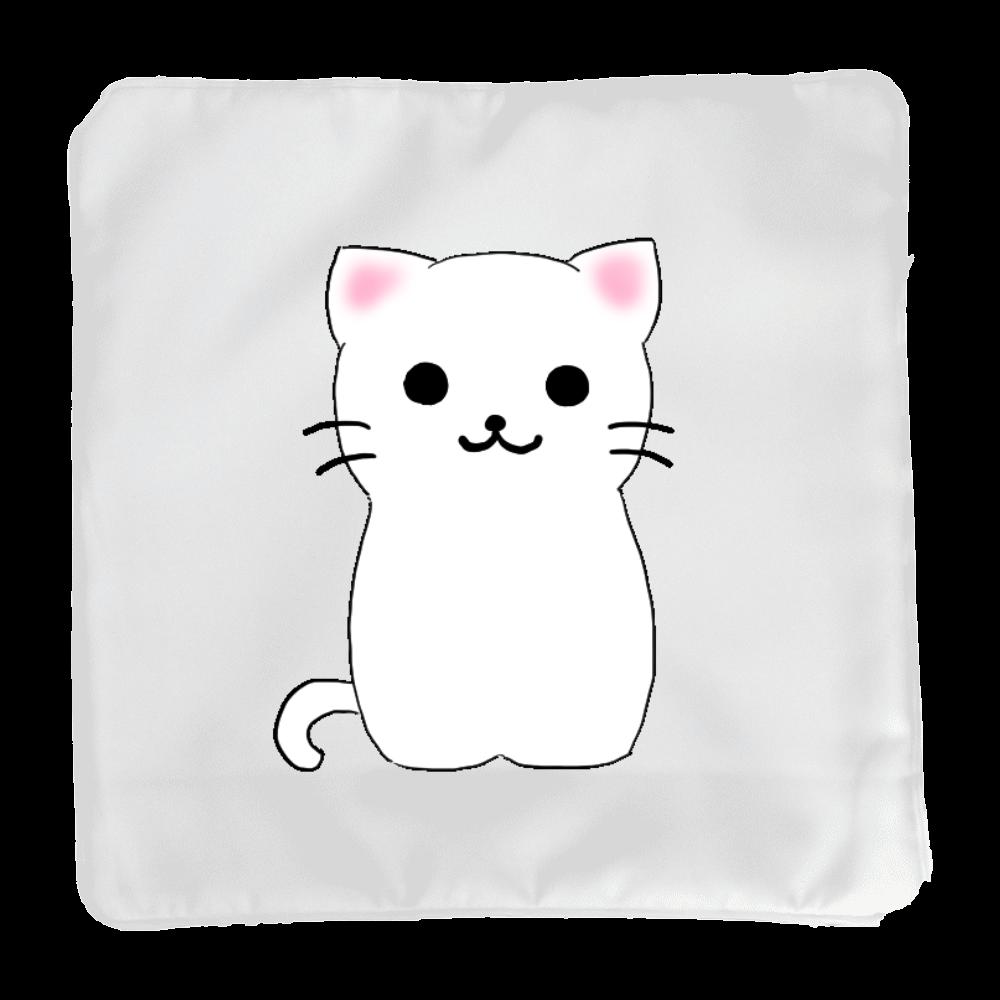 白猫のクッション(小) クッション(小)