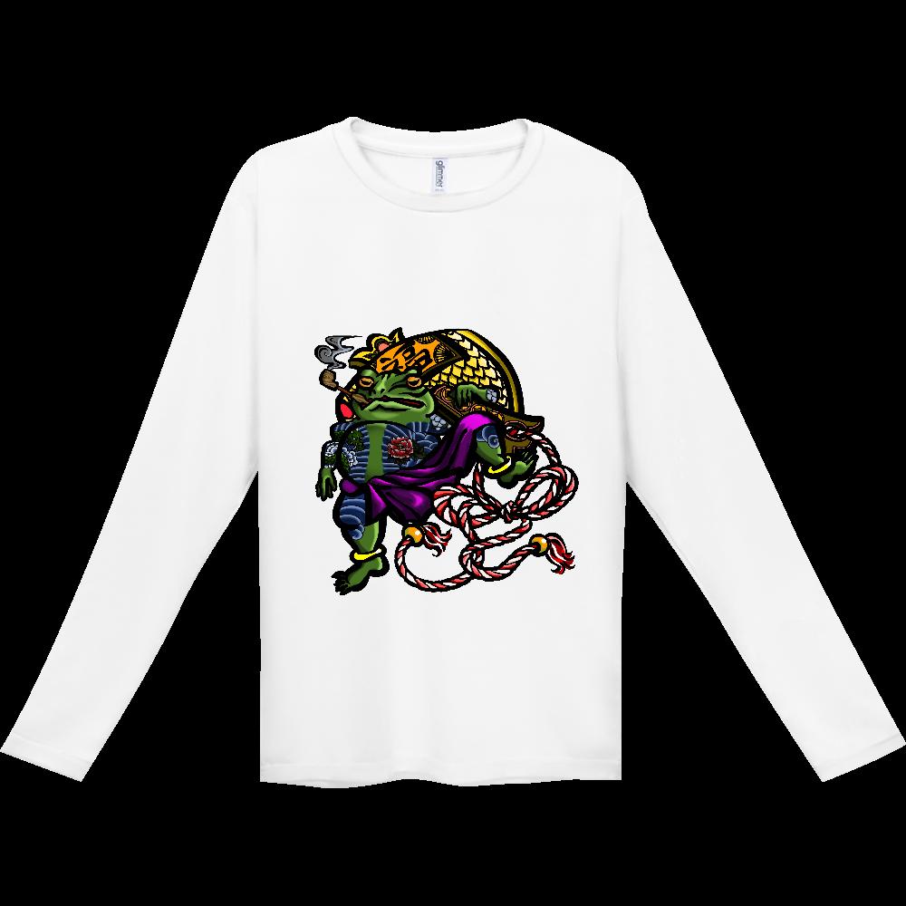 福を呼ぶ蛙と打ち出の小づち 彩色仕様 インターロック ドライ長袖Tシャツ
