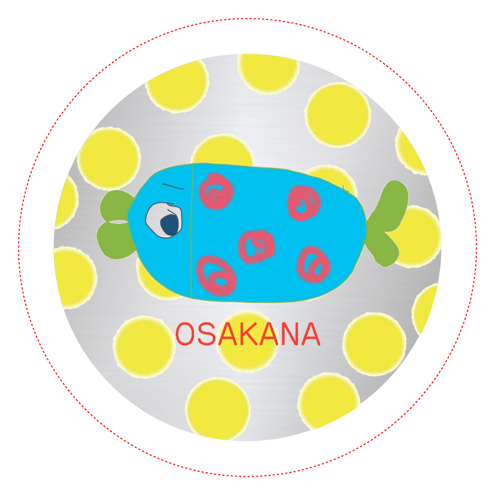 おさかなさん オリジナル缶バッジ(44mm)