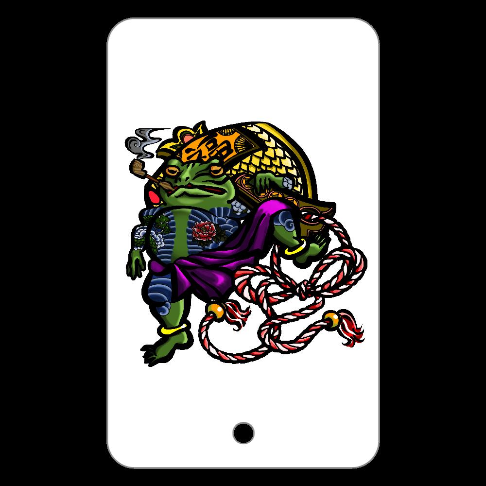 福を呼ぶ蛙と打ち出の小づち 彩色仕様 フラットパスケース
