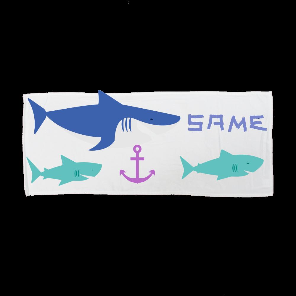 サメ好きによるサメ好きのためのタオル 全面インクジェットフェイスタオル