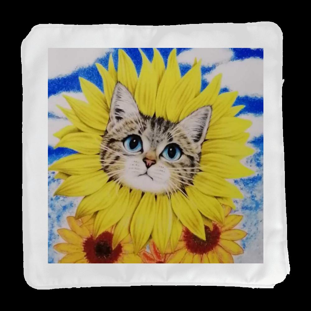 ひまわり猫 クッション(小)