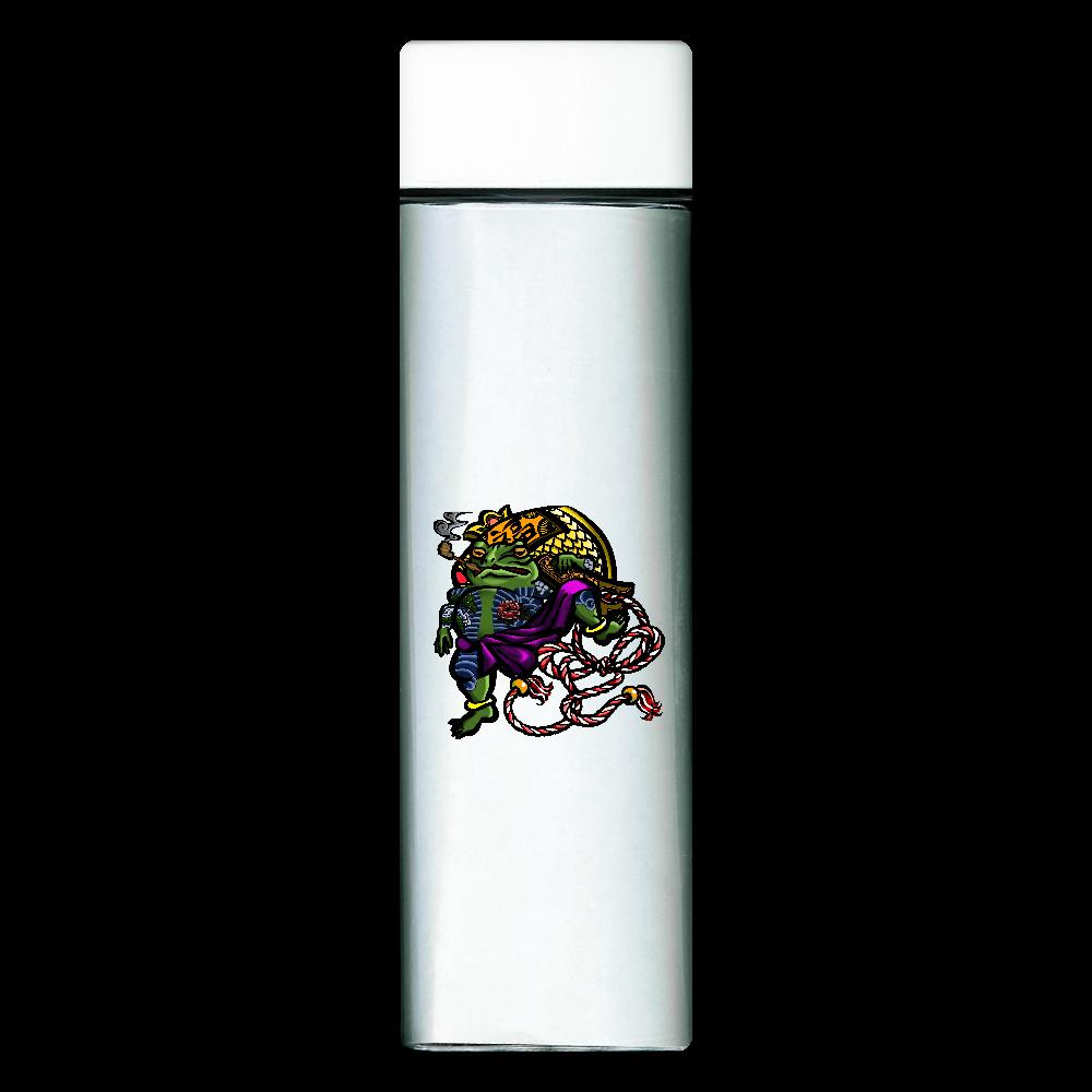 福を呼ぶ蛙と打ち出の小づち 彩色仕様 スクエアクリアボトル
