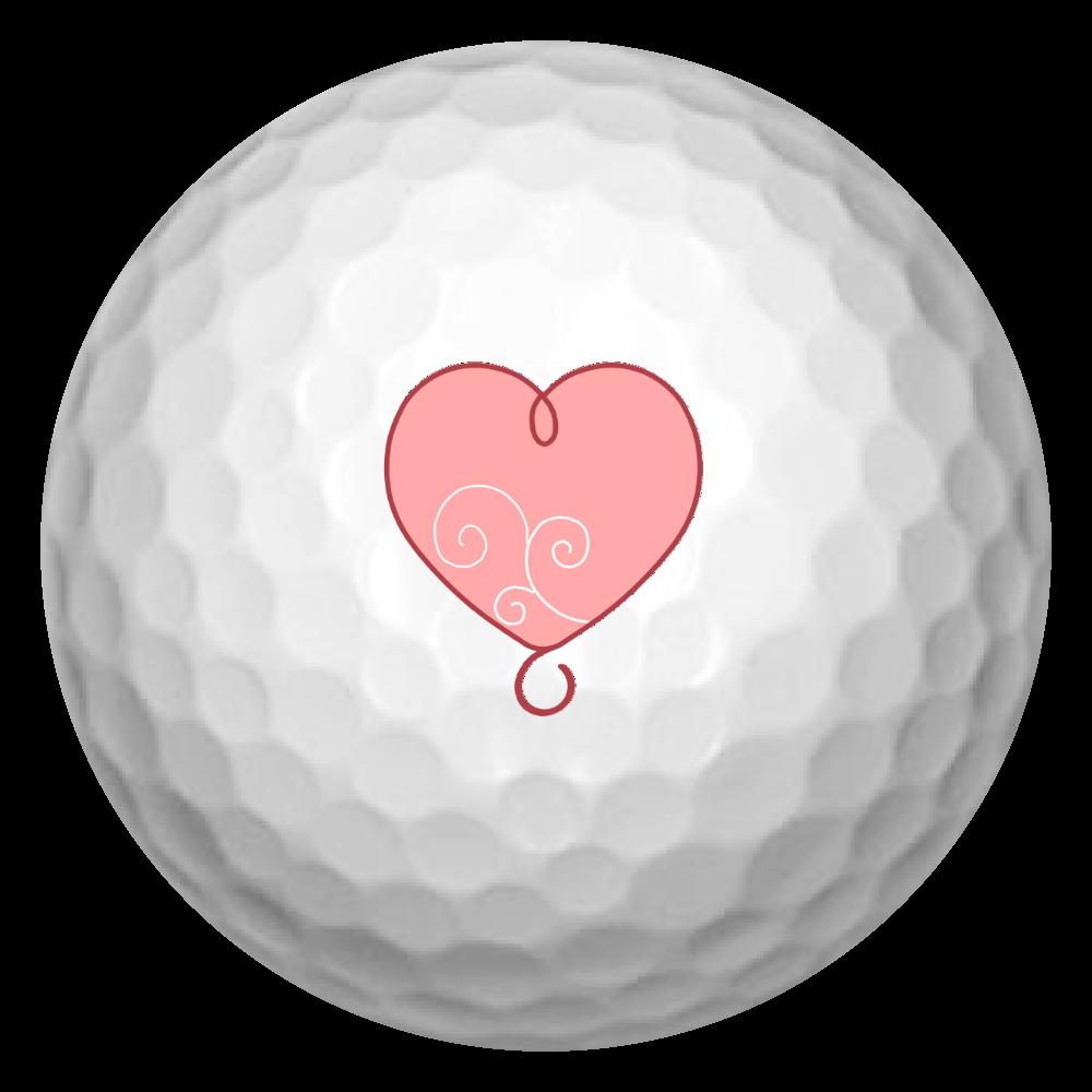 ハート ゴルフボール(3個セット)