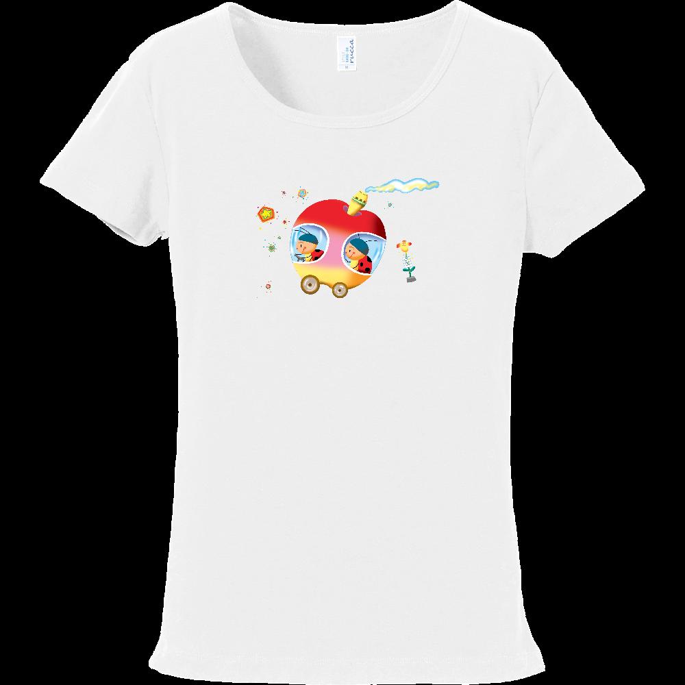 てんとう虫のりんごバス フライスTシャツ