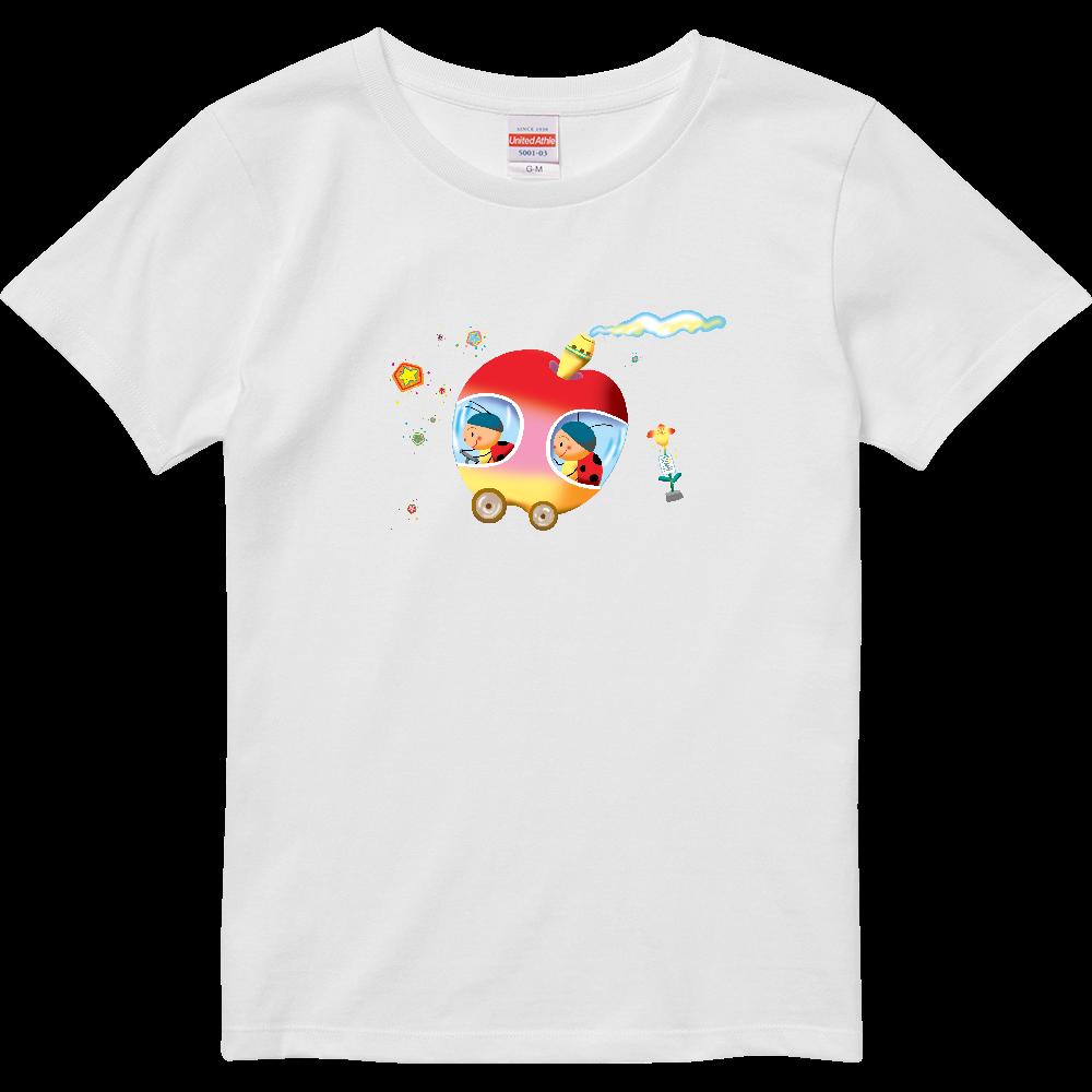 てんとう虫とりんごバス ハイクオリティーTシャツ(ガールズ)