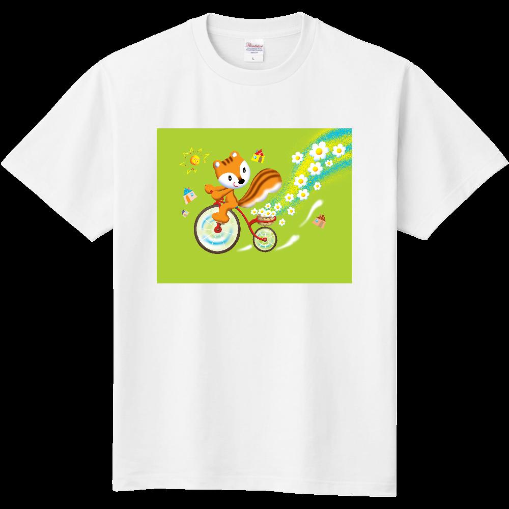 リスの花サイクリング キッズTシャツ