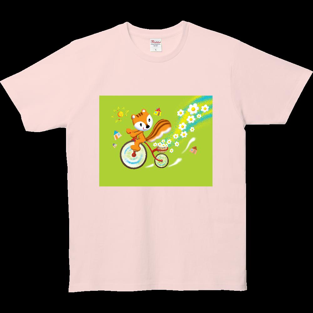 リスの花サイクリング 5.0オンス ベーシックTシャツ(キッズ)