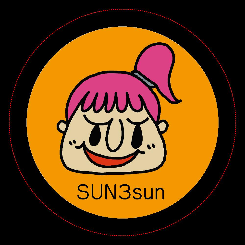 SUN3sun 缶バッジ 女の子 オリジナル缶バッジ(44mm)