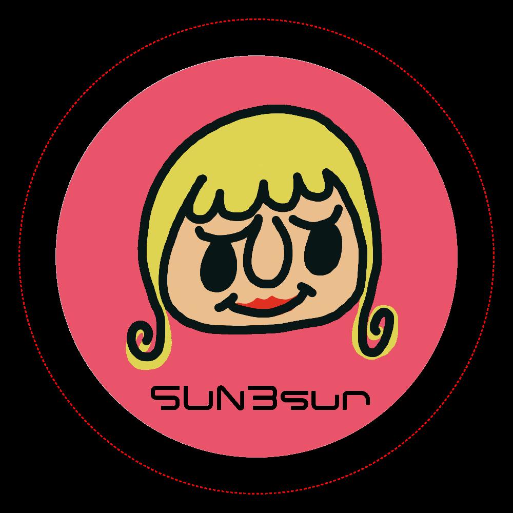 SUN3sun 缶バッジ 女の子 かわいい オリジナル缶バッジ(44mm)