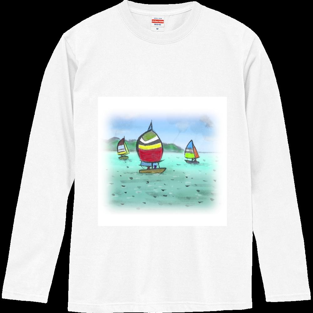 ロングスリーブTシャツ デジタル墨絵ヨット ロングスリーブTシャツ