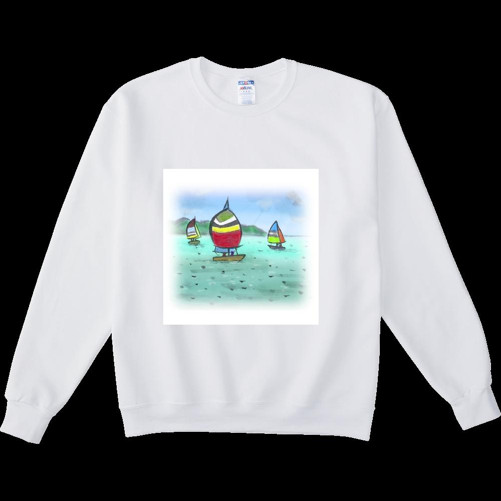 スウェットシャツ デジタル墨絵ヨット NUBLENDスウェットシャツ