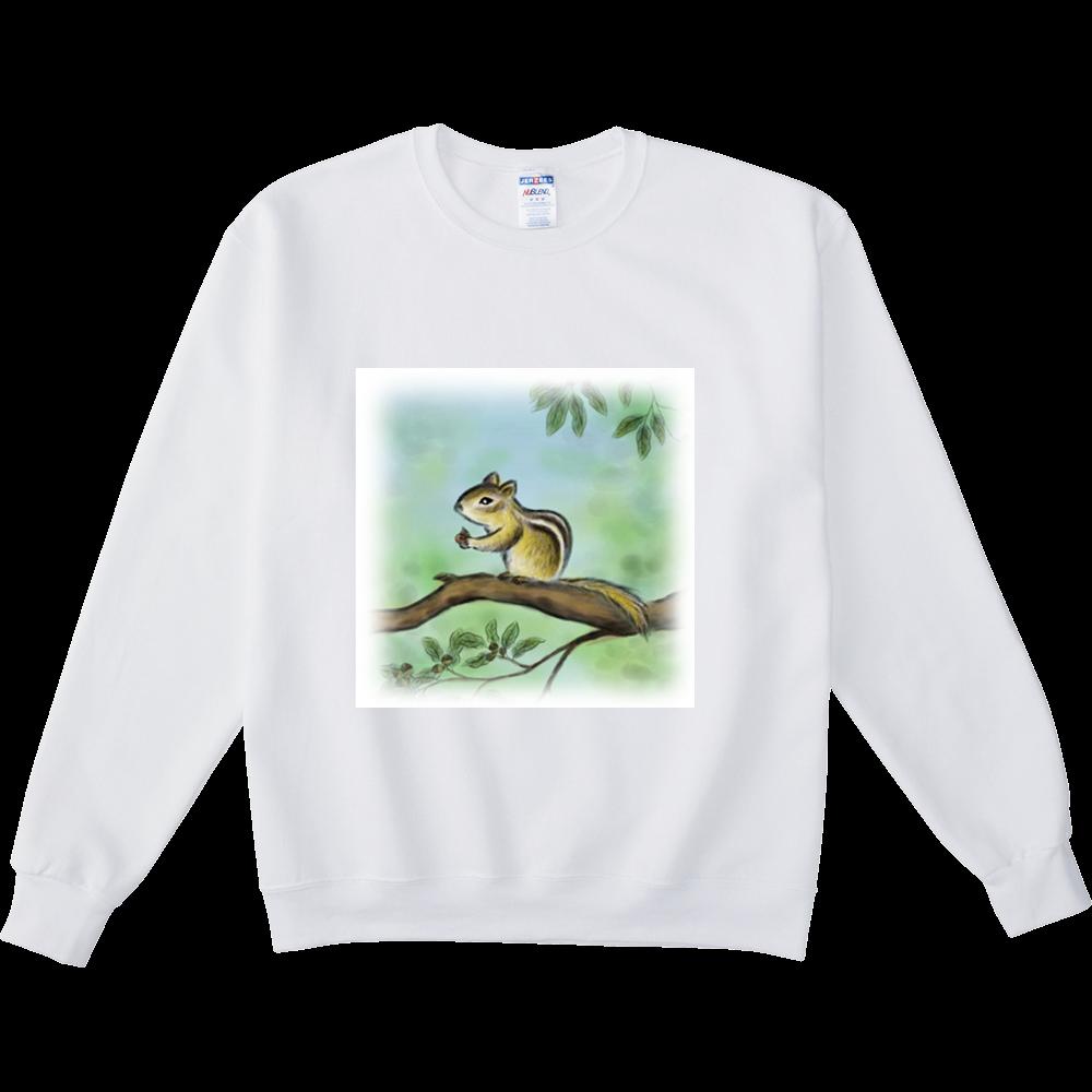 スウェットシャツ デジタル墨絵リス NUBLENDスウェットシャツ