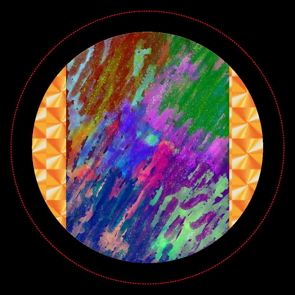 銀河系 ORILAB MARKET.Version.11 ホログラムオリジナル缶バッジ(44mm)