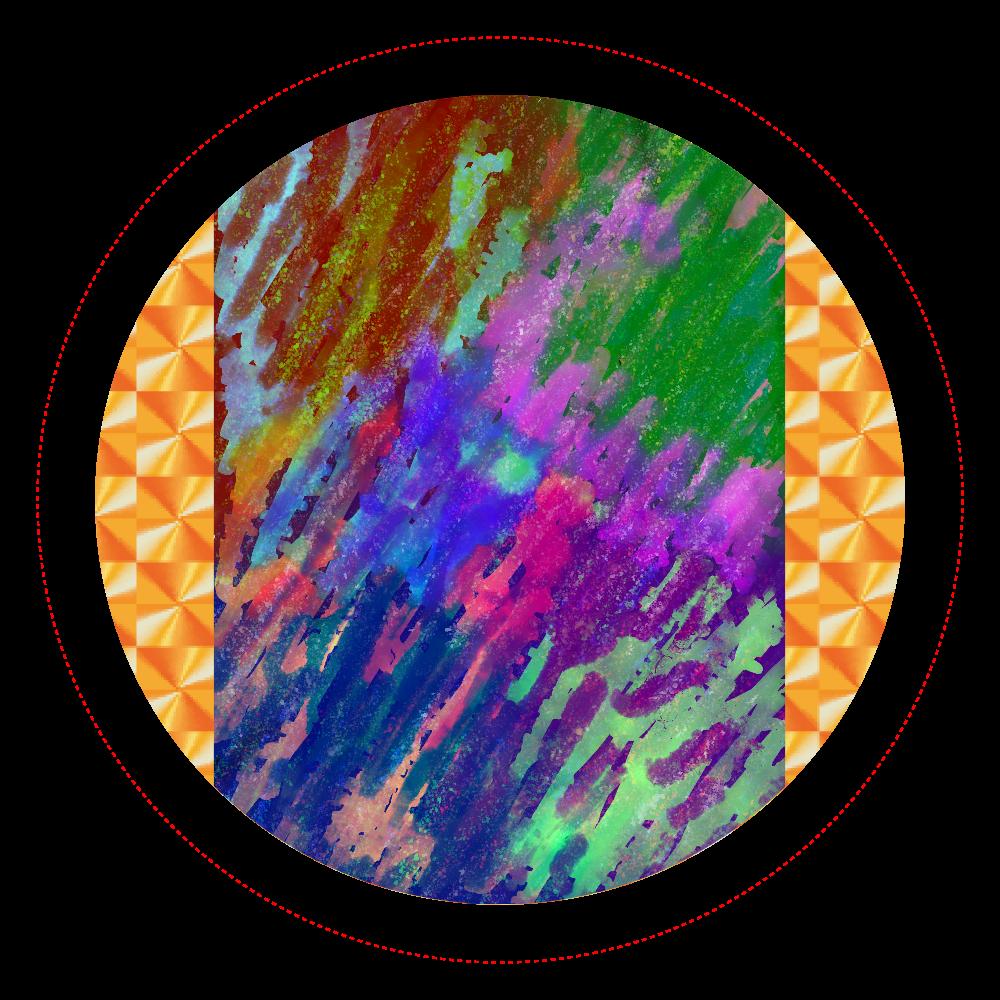 銀河系 ORILAB MARKET.Version.11 ホログラムオリジナル缶バッジ(56mm)
