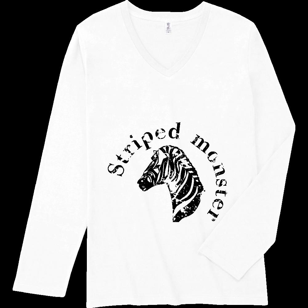 ゼブラシンプルマーク スリムフィット VネックロングスリーブTシャツ