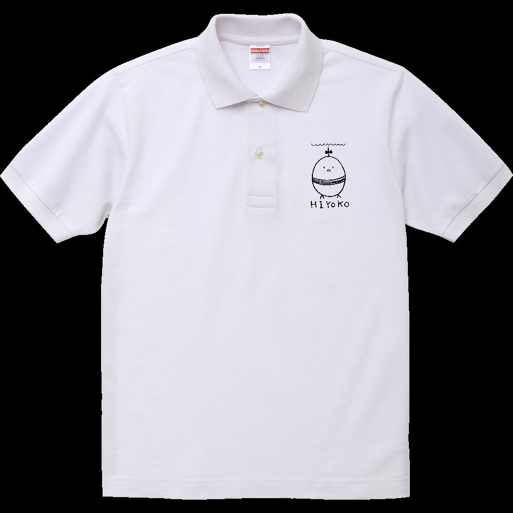 ドMひよこちゃんポロシャツ(白M,Lサイズあり) ヘヴィーウェイトコットンポロシャツ