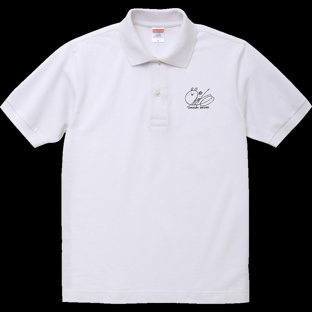 おりこサインポロシャツ(白M,Lサイズあり) ヘヴィーウェイトコットンポロシャツ