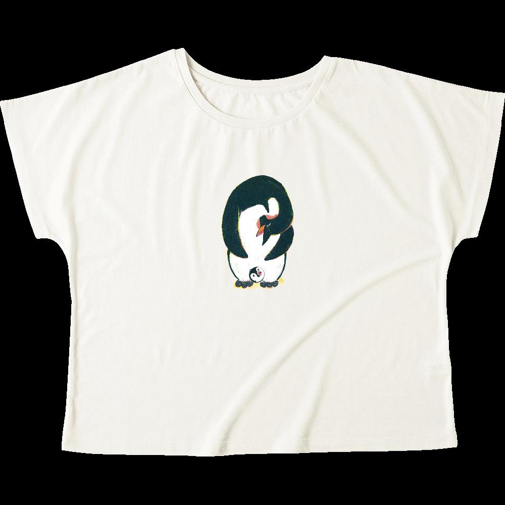 ペンギンの親子-01 ウィメンズ ドルマン Tシャツ